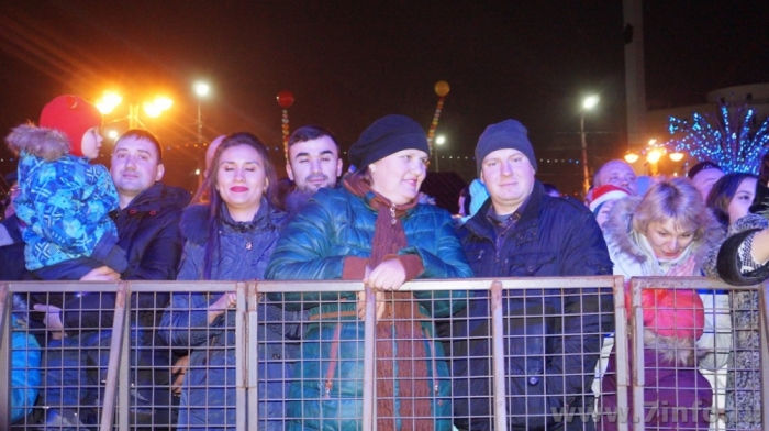 Рязанцы встретили Новый год салютом и дискотекой
