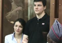 Евгения Хасис и Никита Тихонов в суде перед оглашением приговора. Съемка В. Дмитрошкина/Грани.Ру