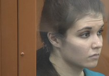 Варвара Караулова на оглашении приговора. Кадр трансляции ТАСС
