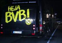 """Автобус """"Боруссии"""" после взрыва. Кадр Reuters"""