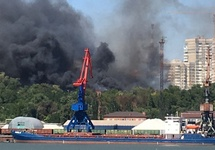 Пожар в Ростове-на-Дону. Фото: 161.ru