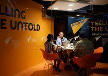В студии радио Sputnik. Фото: sputnik.md