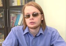 """Дмитрий Богатов. Кадр интервью Радио """"Свобода"""""""