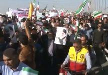 Проправительственная демонстрация в Иране. Кадр местного телевидения