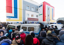 У миграционного центра в Томске, 09.01.2018. Фото: vtomske.ru