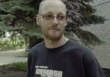 """Мик Алпс на Украине. Кадр видео """"Правого сектора"""""""