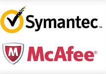 Логотипы Symantec и McAfee