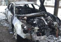 Сожженный автомобиль Широбокова. Фото: pln24.ru