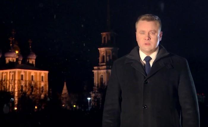Губернатор Николай Любимов записал новогоднее видеообращение к рязанцам