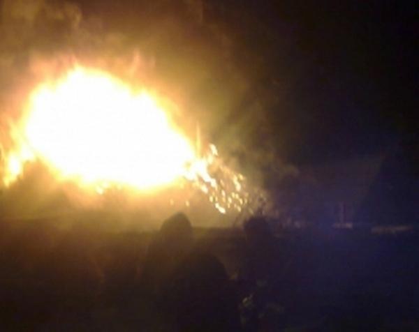 В Касимовском районе произошёл крупный пожар
