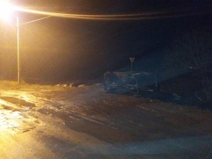 На автодороге Рязань – Ряжск перевернулся автомобиль