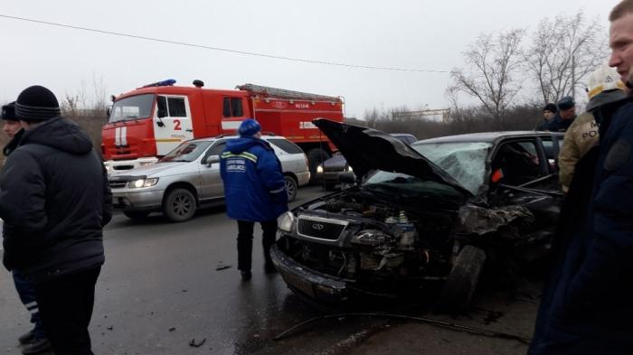 На Ряжском шоссе произошло ДТП с участием маршрутки