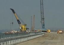 Постройка Керченского моста. Кадр НТВ