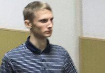 Михаил Галяшкин в суде. Фото: @sssmirnov
