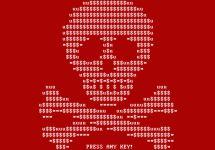Заставка вируса-вымогателя Petya