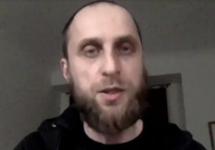 """Дмитрий Бученков в эмиграции. Кадр """"Настоящего времени"""""""