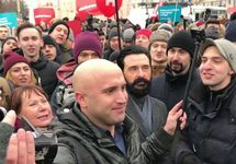 Грэм Филлипс на Пушкинской площади. Фото из личного Твиттера