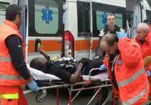 Раненый в Мачерате. Кадр видеозаписи