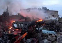 После российского удара по окрестностям Идлиба, 03.02.2018. Источник: Reuters