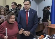 Михаил Саакашвили в суде. Фото: pravda.com.ua
