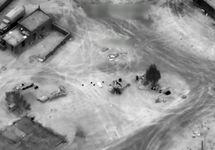 Авиаудар в районе Дейр-эз-Зора. Кадр видео
