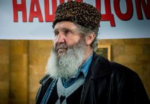 Фазыл Ибраимов на митинге 04.02.2018. Фото: krymr.com