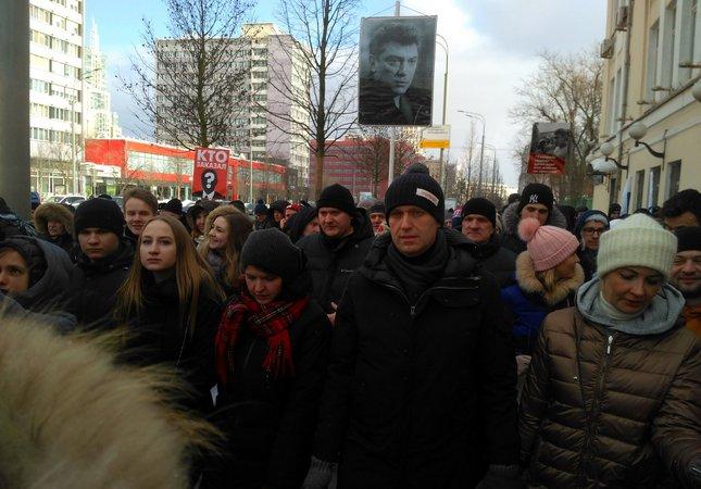 Московский марш памяти Немцова собрал 7 с половиной тысяч человек