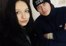 Ольга Борисова и Александр Софеев в керченском горотделе ФСБ. Фото: @borissssova