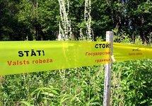 На латвийско-российской границе. Фото: leta.lv