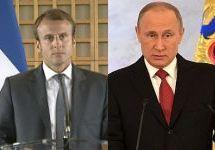 Эмманюэль Макрон и Владимир Путин