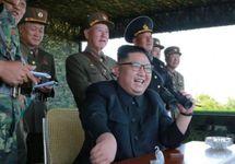 Ким Чен Ын на ракетных испытаниях. Фото ЦТАК