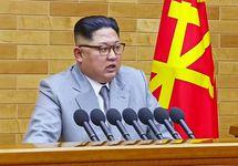 Ким Чен Ын. Кадр телеобращения