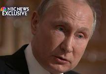 Владимир Путин. Кадр интервью NBC.
