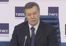 Виктор Янукович. Кадр трансляции