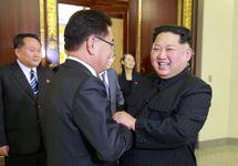 Встреча Ким Чен Ына с представителями Южной Кореи. Фото: yonhapnews.co.kr