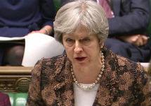 Тереза Мэй в Палате общин 12 марта. Фото: BBC News