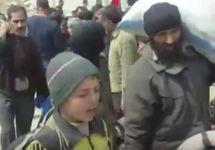 Беженцы из Восточной Гуты. Кадр CNN