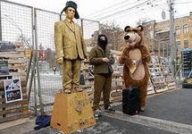 У посольства России в Киеве, 18.03.2018. Фото: pravda.com.ua