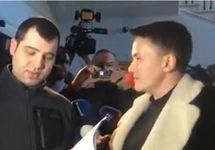 Надежде Савченко объявляют о задержании. Кадр видеозаписи
