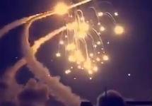 Уничтожение йеменских ракет. Кадр видео