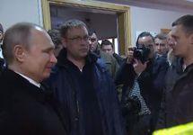 Владимир Путин в морге в Кемерове. Кадр видео kremlin.ru