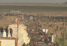 Беспорядки на границе сектора Газы. Кадр арабского телевидения