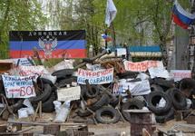 Блокпост террористов под Донецком. Фото: volkmedia.info