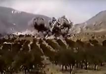 Дагестан: после налета федералов на чеченские позиции. Кадр видео