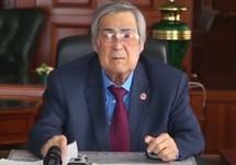 Аман Тулеев объявляет об отставке. Кадр видеообращения