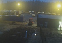 На погранпункте у Шальчининкая. Кадр видео с pkpd.lt
