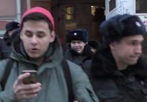 Задержание на акции против блокировки Telegram. Фото Юрия Тимофеева/Грани.Ру
