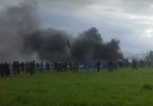 После катастрофы Ил-76 в Алжире. Фото из твиттера Давида Шапиры