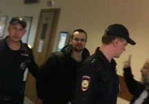 Денис Бахолдин в суде, 20.04.2018. Фото: ФБ-страница Ирины Яценко