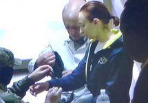 Елена Одновол после доставки в суд. Фото: krymr.com
